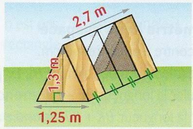 Je suis en 4 ème. quelle est l'aire du prisme droit dont les bases sont des triangles isocèles. d'a