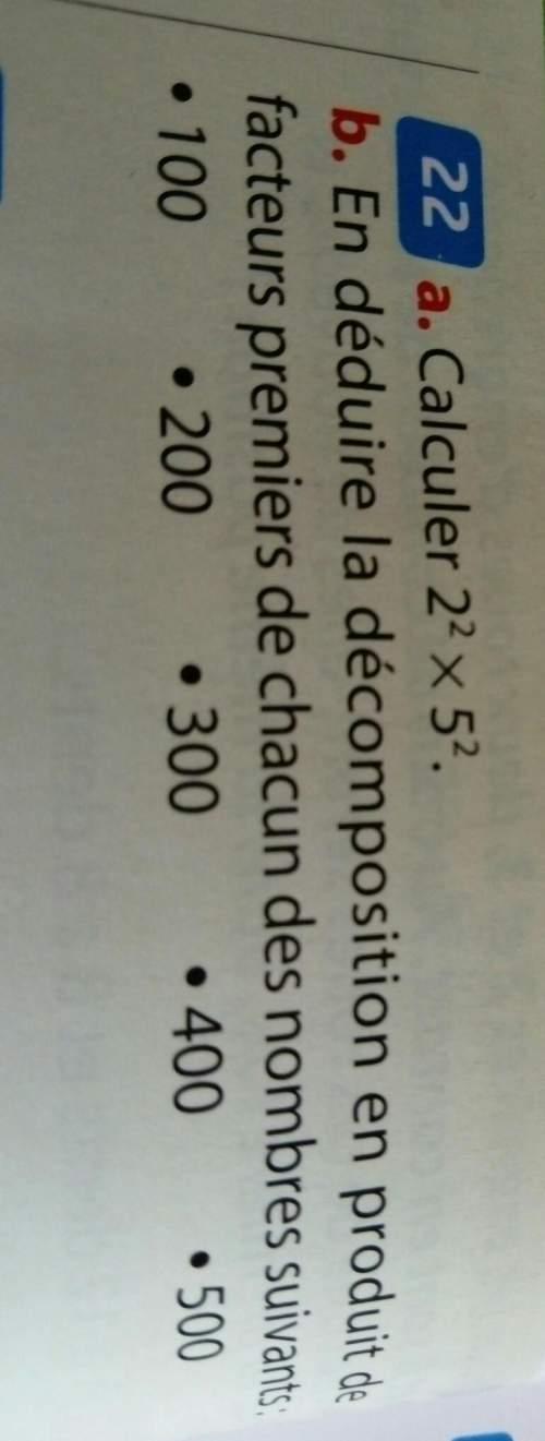 Je n'arrive pas sur un exercice de maths vous pouvez m'aider s'il vous plaît 