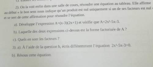Pourriez vous m'aidez pour mon dm de mathématique :