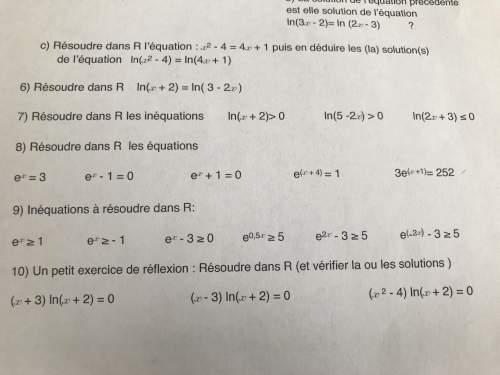 Vous pouvez m'aider s'il vous plaît en maths sur les logarithmes ? d'avance