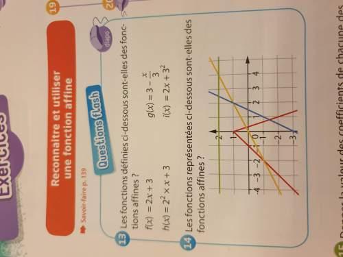 Bonsoir pouvez vous m aider a faire ces exos de maths le 23 et le 25 c est des graphiques à lire be